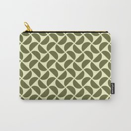 HALF-CIRCLES, OLIVE Carry-All Pouch