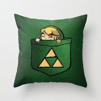 the legend of zelda Throw Pillows featuring THE LEGEND OF ZELDA  by BeautyArtGalery