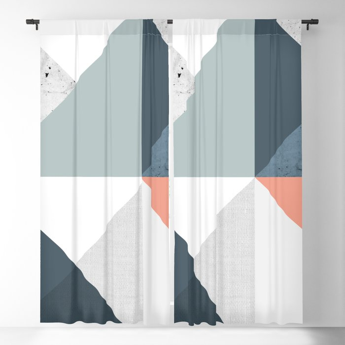 Modern Geometric 12 Blackout Curtain