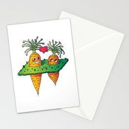 Carrots in love Stationery Cards
