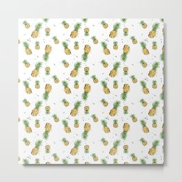 Small Pineapple Pattern Metal Print