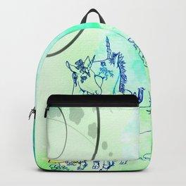 Unicorn Gemini: Blue Backpack