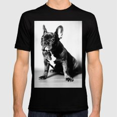 French Bulldog Mens Fitted Tee Black LARGE