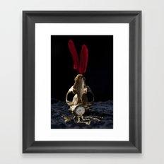 Skull & Feathers Framed Art Print