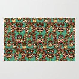 Tiki Head Pattern Rug