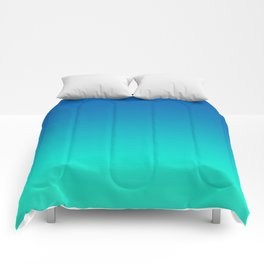 Teal Mint Ombre Comforters