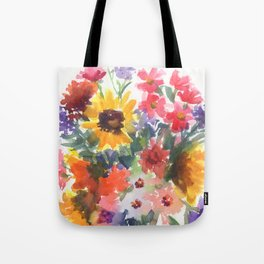 Sunny Summer Sunflowers Tote Bag