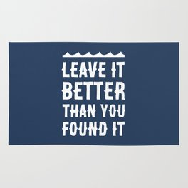 Leave It Better Than You Found It - Ocean Edition Rug