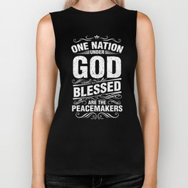 One Nation Under God Blessed Christian Biker Tank