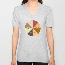 Multicultural Face (shirt) Unisex V-Neck