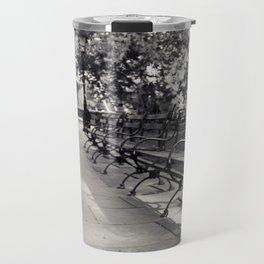 On a Park Bench At City Hall Travel Mug