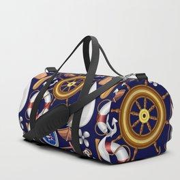 Nautical Marine and Navy Equipment Pattern Duffle Bag