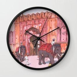 Ajmer Gate, Jaipur by Yoshida Hiroshi - Japanese Vintage Ukiyo-e Woodblock Painting Wall Clock