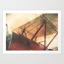 Take Flight // Antique Airplane Art Print
