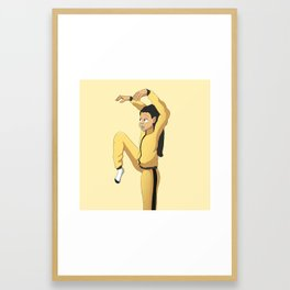 Crane Kick Framed Art Print