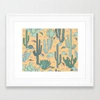 guns Framed Art Prints featuring Succulent Guns by LaPenche