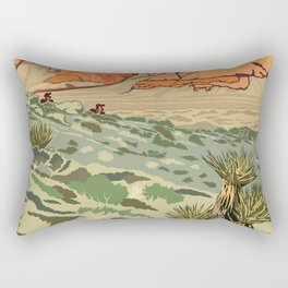 Vintage Poster - Red Rock Canyon National Conservation Area, Nevada (2015) Rectangular Pillow