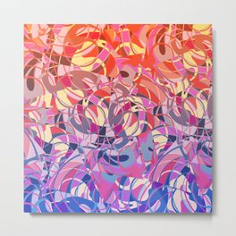 Summer Sunset Abstract - Purples and Reds Metal Print