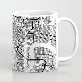 New Orleans Map White Coffee Mug