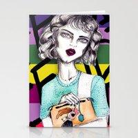 lindsay lohan Stationery Cards featuring Lindsay by Isaboleta