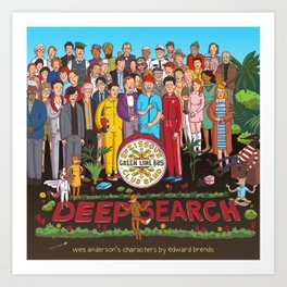 Wes Anderson's Sgt. Pepper Art Print