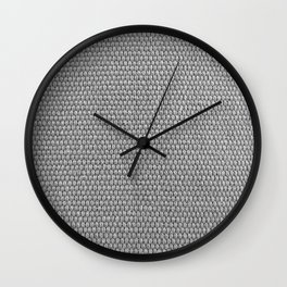 Woven Texture BW Wall Clock