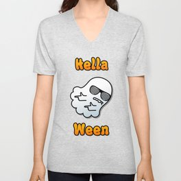 Hella Ween Halloween Ghost Unisex V-Neck