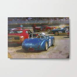 Austin Healey Waiting to Race Metal Print