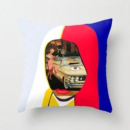 Car Portrait Throw Pillow
