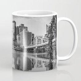 Pittsburgh Steel City Skyline River Framed View Coffee Mug