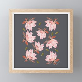 Falling Lotus - Grey Sky Framed Mini Art Print