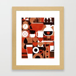 Coffee Story Framed Art Print
