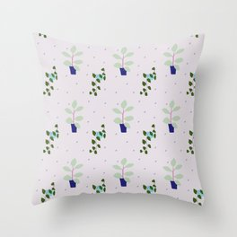 My favourite indoor plants (that I struggle keeping alive) Throw Pillow