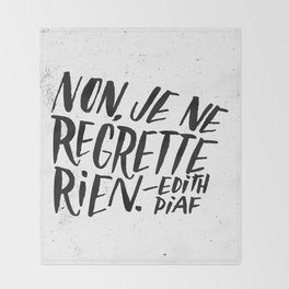 Edith Piaf Throw Blanket