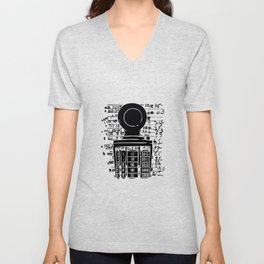 Books Library Stamp Unisex V-Neck
