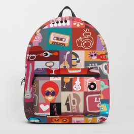 Entertainment Art Collage Backpack