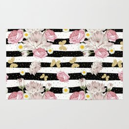 Butterfly Floral Rug