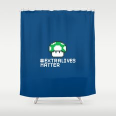 #Extra Lives Matter Shower Curtain