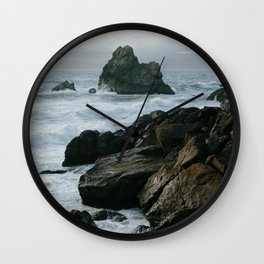 View of San Francisco Bay from Sutro Baths Wall Clock