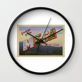 Greetings from Mesa, Arizona Wall Clock
