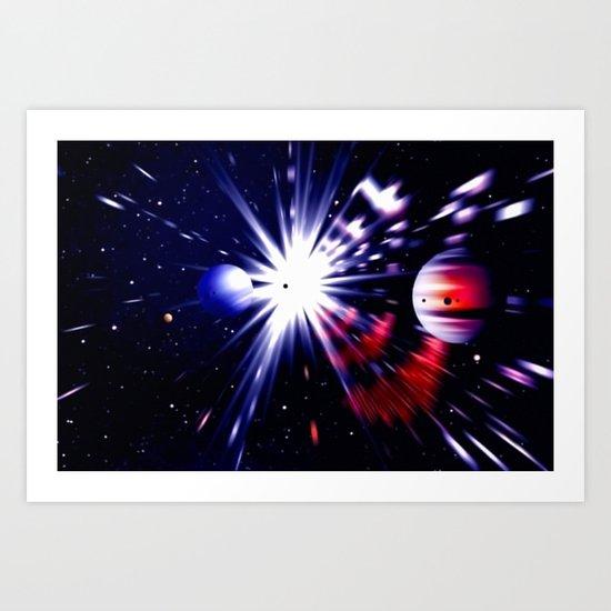 Interstellar worlds. Art Print