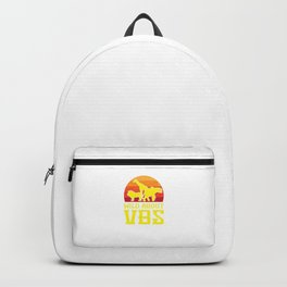 Wild About VBS Animals Funny Christian Church Vacation Humor Pun Design Backpack