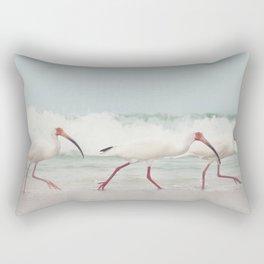 Three Little Ibis All in a Row Rectangular Pillow