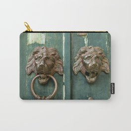 Lion heads of precious metal Carry-All Pouch