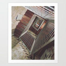 Twisting Staircase within Torre del Moro Art Print