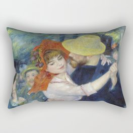 The dance at Bougival by Pierre-Auguste Renoir Rectangular Pillow