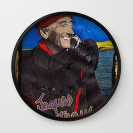 Jacques Cousteau Wall Clock