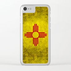 Flag of New Mexico - vintage retro style Clear iPhone Case