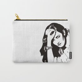 In Black & White IV Carry-All Pouch