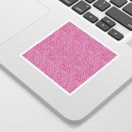Hand Knit Hot Pink Sticker